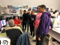 Braintree Printing with Students 2